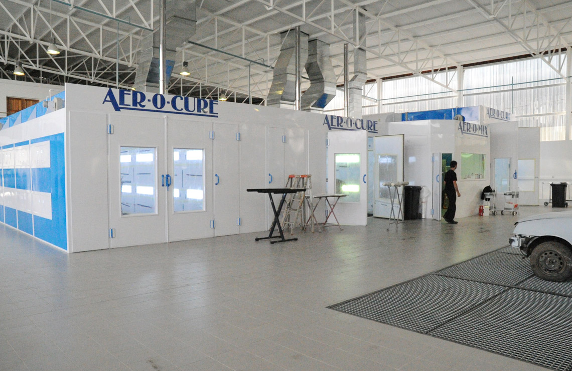 High performance, energy efficient Aer-o-cure spray booth manufactured in South Africa