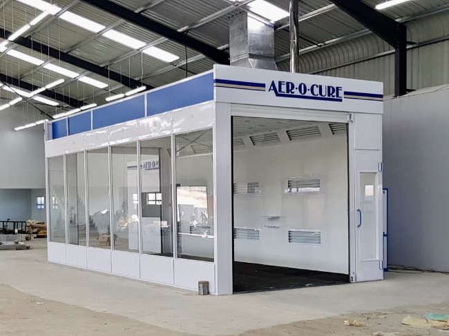 High Roof Spraybooth for light commercial vehicles